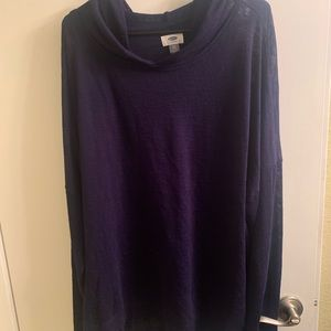 Old navy sz xxl burnout long fleece hoodie
